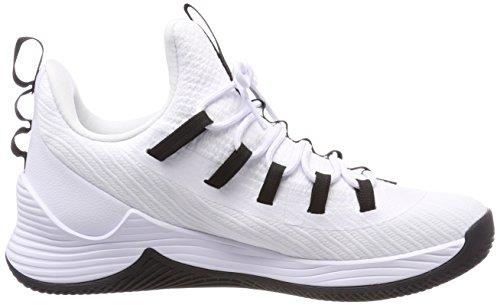Nike Herren Jordan Ultra Fly 2 Low Basketballschuhe Elfenbein (Whiteblackwhite 100)
