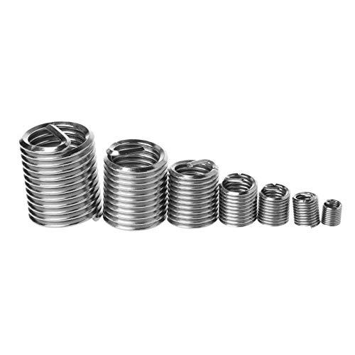 60pcs 304 Stainless Steel Wire Thread Repair Insert Kit M3 M4 M5 M6 M8 M10 M12 304 Stainless Steel 130x65x22mm