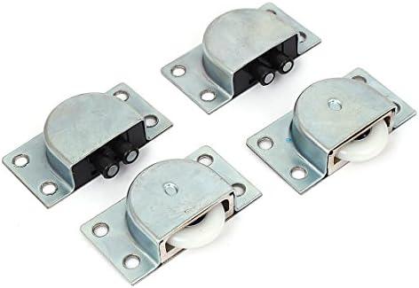 uxcell armario 24 mm de diámetro rueda de plástico rodillo de puerta corredera plata tono 2 piezas: Amazon.es: Bricolaje y herramientas