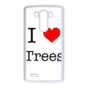 LG G3 Cell Phone Case White I Love Trees PJG Jeweled Cell Phone Cases
