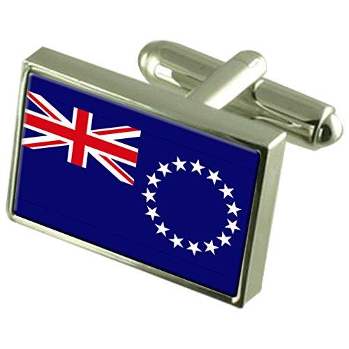 Îles Cook Drapeau de manchette en argent sterling