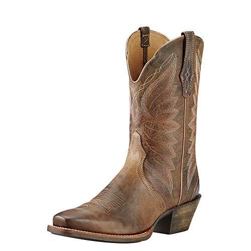 Ariat Women's Autry Western Cowboy Boot, Woodsmoke, 9 B US (Size 9 Ladies Boots Cowboy)