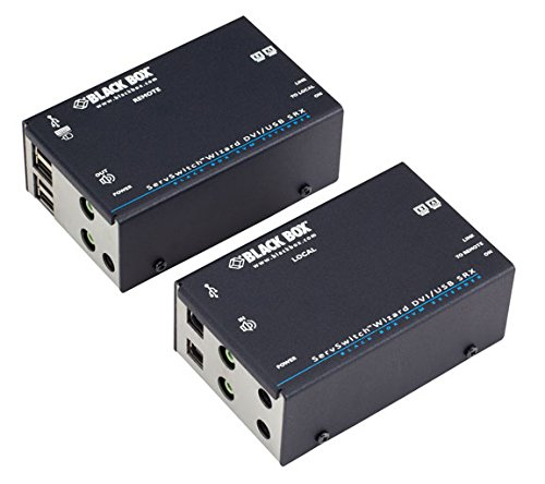 Black Box ServSwitch Wizard SRX DVI-D/USB Extender, Dual-Head - 1 Computer(s) - 1 Local User(s) - 196 ft Range - 4 x Network (RJ-45) - 6 x USB - 4 x DVI - Rack-mountable - ACU5502A-R3