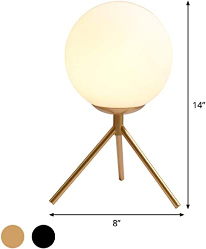 BAYCHEER Modern 1 Bulb Industrail Glass Globe Metal Table Lamp