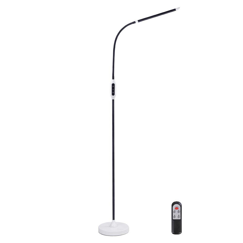 Floor Lamp with Remote Control, KEDSUM LED Standing Lamp for Living Room (5 Color Modes, 5-Level Dimmer), 1000 Lumens & 50,000 Hours Lifespan,Reading Lamp with Touch Panel,Flexible Gooseneck,10W