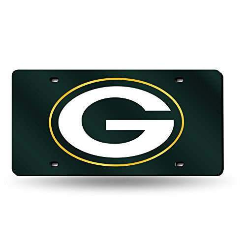 Green Laser Cut License Plate - NFL Green Bay Packers Laser Inlaid Metal License Plate Tag