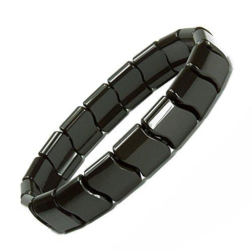 Power Ionic Health Negative Ions Tourmaline Beads Stretch Bracelet Wristband Stretch