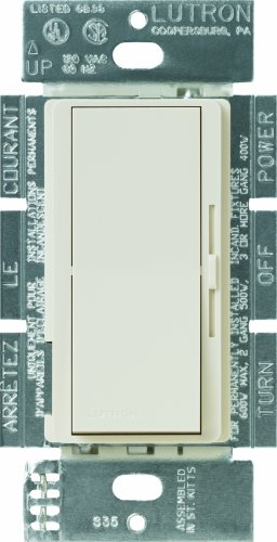 Lutron DVLV-603P-LA Diva 450-watt 3-Way Magnetic Low-Voltage Dimmer, Light Almond