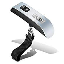 BlueBeach® Portable 50kg LCD Digital Travel Suitcase Scales Weights Luggage Scale Electronic Handheld