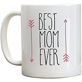 Mother's Day Gift, Best Mom Ever Coffee Mug, Birthday Gifts For Mom, Mother's Day Mug Gift Ideas. Pink Arrow Mug, 11 Oz