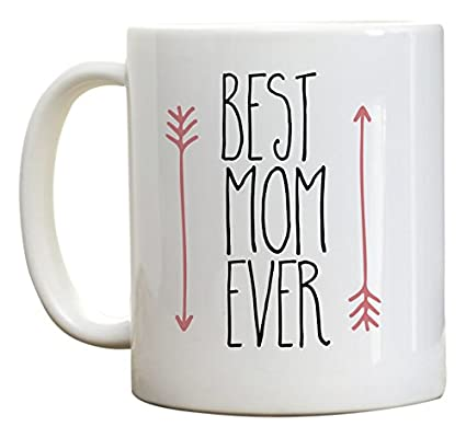 Amazon Mothers Day Gift Best Mom Ever Coffee Mug Birthday Gifts For Ideas Pink Arrow 11 Oz Kitchen Dining