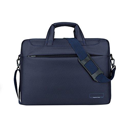 Jia HU 1Oxford Laptop Aktentasche Portfolio Messenger Tasche Dokument Veranstalter für Reisen College Dark Gary blau