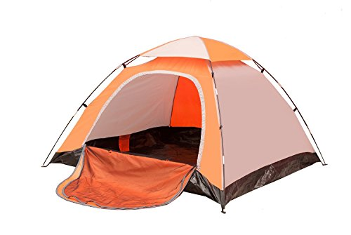 iCorer Backpacking Tent, Waterproof Lightweight 2-3 Person Family Camping Tent, 78.7' x 78.7' x 51'Light Yellow ... (Yellow)
