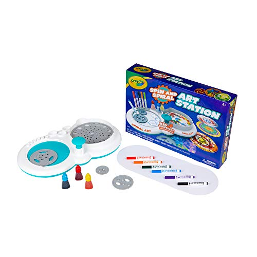 41frFcUsuBL - Crayola Spin & Spiral Art Station, DIY Crafts for Kids, Gift, Over 20Piece