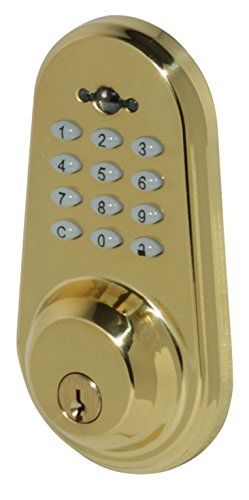 Honeywell 8634307 Digital Door Lever Handleset and Deadbolt Lock with Remote, Satin Chrome