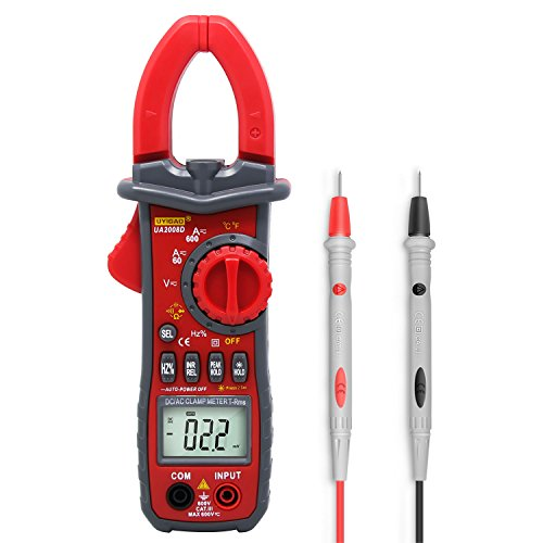 Digital Multimeter, UYIGAO DC Current Clamp Meter, AC Current AC/DC Voltage Resistance Capacitance Temperature Frequency Duty Ratio Inrush Current NCV Diode Tester with Clam& Flashlight by UYIGAO