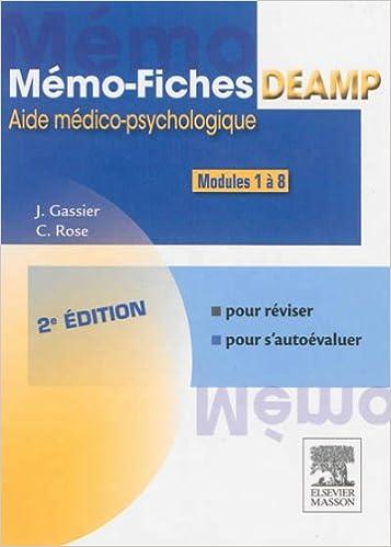 Lire un Mémo-fiches DEAMP 2E: AIDE MEDICO-PSYCHOLOGIQUE epub, pdf