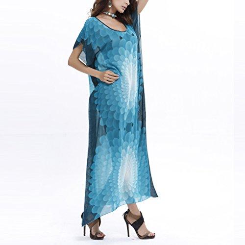 Abiti Beachwear Manica Costumi Zhuhaitf Beach Lightweight Corta Donna Wear Up Bagno Moda Da Cover Bikini Blu Camicia Per qBBRw