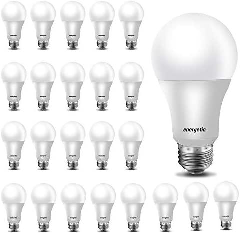24 Pack A19 LED Light Bulb 40 Watt Equivalent Daylight 5000K E26 Standard Base UL Listed Non-Dimmable LED Light Bulb