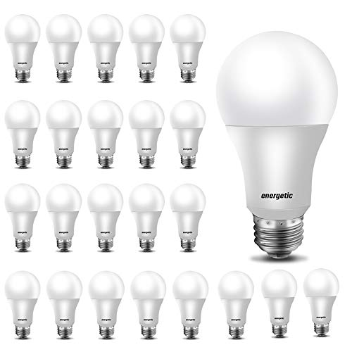 A19 LED Light Bulb 24 Pack,40Watt Equivalent, 5000K Daylight, E26 Standard Base, Non-Dimmable,UL Listed