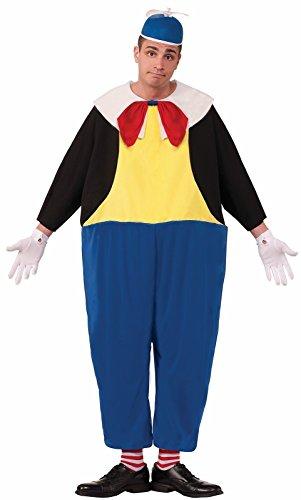 Tweedle Dum And Tweedle Dee Halloween Costumes (Forum Novelties Men's Tweedle Dum Costume, Blue/Black/Yellow, Standard)