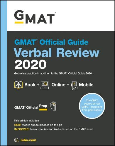 Pdf Test Preparation GMAT Official Guide 2020 Verbal Review: Book + Online