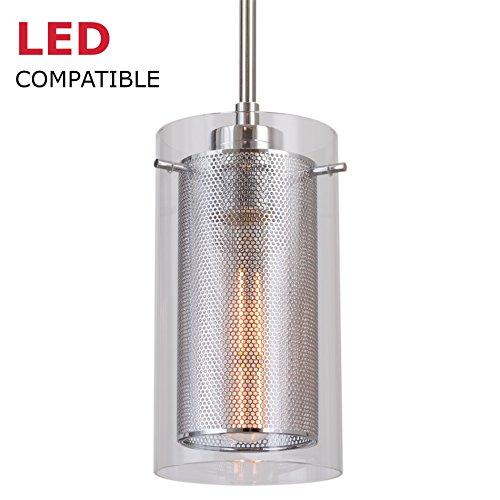 Glass And Metal Pendant Lights