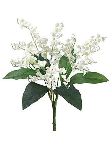 The Bouquet Lily Of Valley (Lily The Valley Bouquet Sprays Silk Wedding Decoration Flowers Artificial Arrangement Centerpieces Bridal Decor)