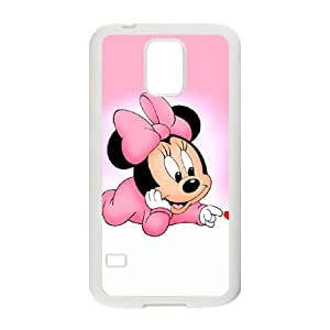 Samsung Galaxy S5 Cell Phone Case White Disney Mickey Mouse Minnie Mouse Phone cover U8475667