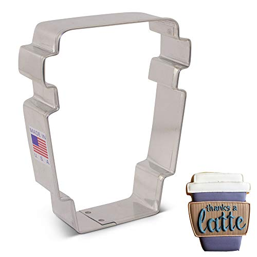 - Latte Coffee Cup by Flour Box Bakery - 3.75 Inch - Ann Clark - US Tin Plated Steel