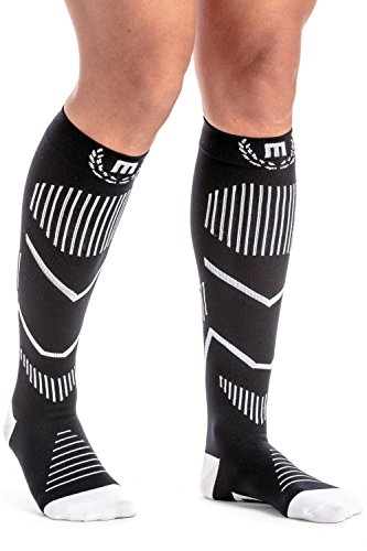 Mava Sports Compression Socks for Running, Jogging, Cross Training, Workouts, Basketball, Hiking, Tennis, Cycling -Ankle, Calf and Leg Support Recovery & Relief