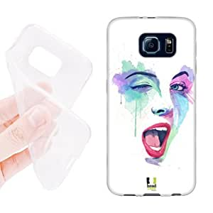 Head Case Designs Attract Faces in Watercolour Soft Gel Back Case Cover for Samsung Galaxy S6 G920, Galaxy S6 Duos