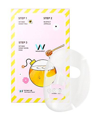 WONJINEFFECT Honey Bomb Mask - 10 Sheets x 0.8oz. Korean Cosmetics Sheet Mask Moisturizer