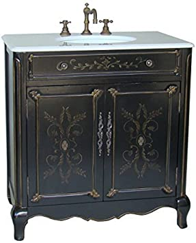 32 Cottage Look Hand Painted Decoroso Bathroom Sink Vanity Model Hf2326 Dining Chairs Amazon Com
