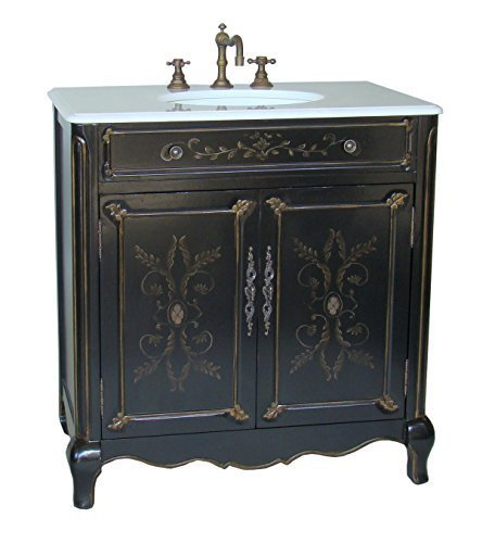 32 Cottage Look Hand Painted Decoroso Bathroom Sink Vanity Model HF2326