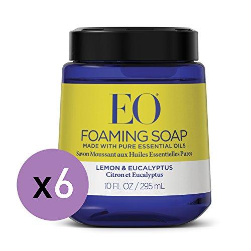 EO Lemon Eucalyptus Foaming Hand Soap, 10 Fl. Oz. Foam Cartridge (6 Pack)