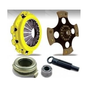 Puck Clutch Solid Disc - ACT GM11-HDR4 Heavy-Duty Clutch Kit 4-Puck Race Disc Solid Hub