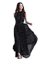 CA QLFAN Women's Beach Dress Maxi Long Dress Sleeveless Dress