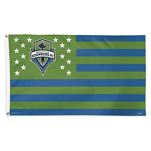 fan products of SOCCER Seattle Sounders 06915115 Deluxe Flag, 3' x 5'