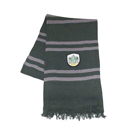 Bufanda tejida con parche Slytherin de Harry Potter, OSFM