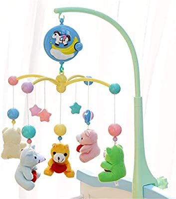 Baby Travel Play Arch Stroller Crib Pram Activity Bar with Rattle Squeak Toys