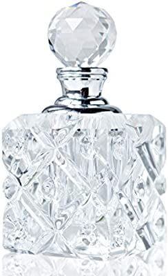 H&D 5ml Clear Vintage Crystal Empty Mini Refillable Perfume Bottle Glass Lady Gift