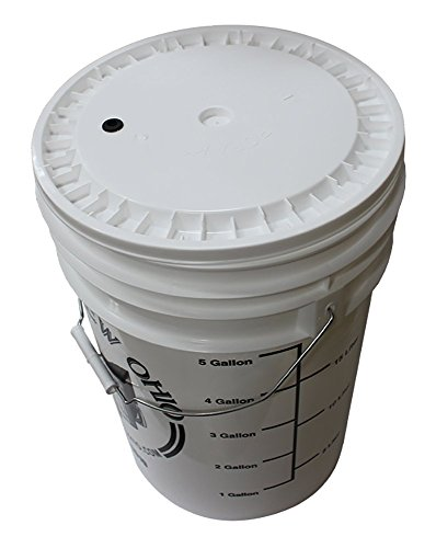 6.5 Gallon plastic fermenter with lid by Midwest Brewing and Winemaking Supplies (Image #2)