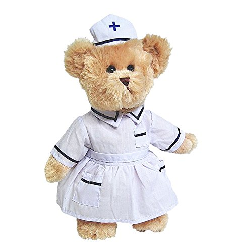 - Elka Australia Nurse Barnaby Dressed Teddy Bear - Tic Toc Teddies 12