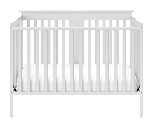 Stork Craft Mission Ridge Fixed Side Convertible Crib, Espresso with Graco Natural Organic Foam Crib and Toddler Mattress