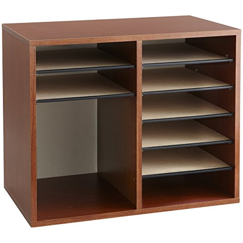 Safco Products 9420CY Wood Adjustable Literature Organizer, 12 Compartment, Cherry by Safco Products (Image #3)