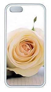 Beautiful Rose-1 Iphone5/5S White Sides Rubber Shell TPU Case by Sakuraelieechyan