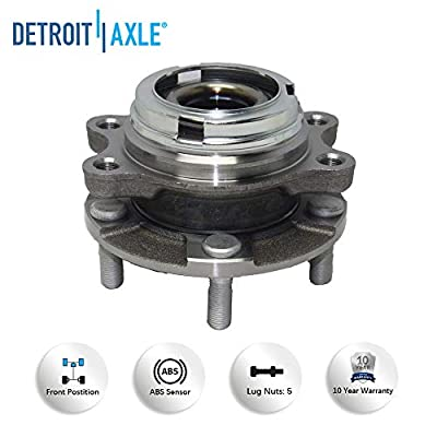 Detroit Axle Pair Front Wheel Bearing & Hub Assembly Set for AWD Only - 08-12 Infiniti EX35 - [03-08 FX45] - 09-12 FX50 - [11-12 G25] - 07-08 G35 - [06-10 M35] - 11-13 M37 - [08-10 M45]: Automotive