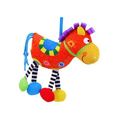 LVYE1 Juguete De Bebe Pony Traqueteos Cama Campana Paño De Juguete Interacción Padre-Hijo Agarrando Juguetes 0-2 Años...