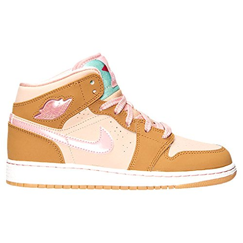 De Jordan n Chaussures Wb Mid Pink wheat Gg Rosa Entrainement 1 shimmer Running Marr Nike Femme Multicolore Glaze Air O5wxYqpW0